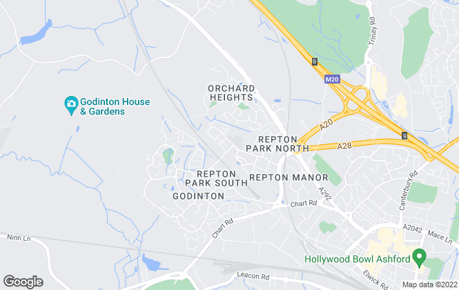 Map for Martin & Co, Ashford Lettings