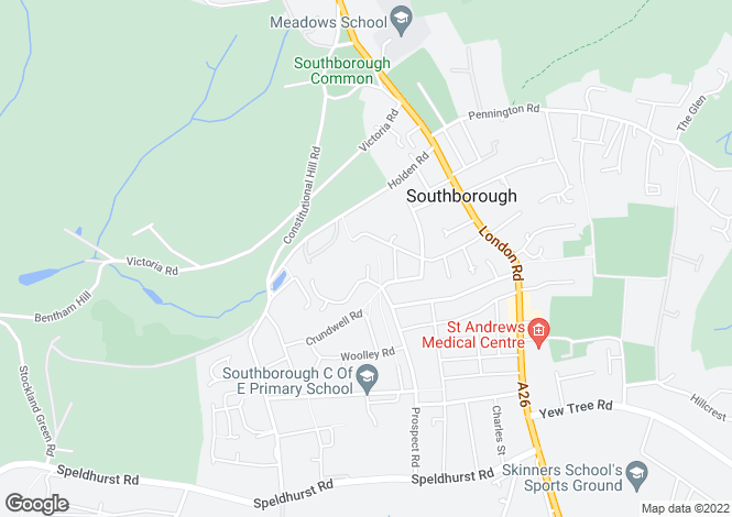 Map for Amber House, Holden Road, Southborough Common, Kent, TN4 0GD
