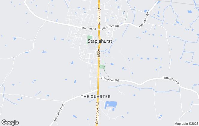 Map for Radfords Estate Agents, Staplehurst