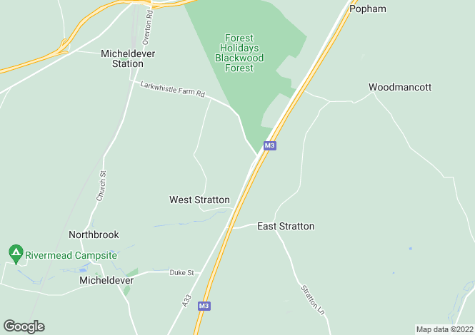 Map for 2 Parkhill Barns, West Stratton, Winchester, Hampshire SO21 3QY