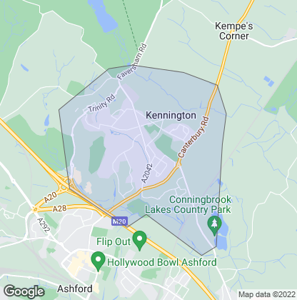 Map of property in Kennington