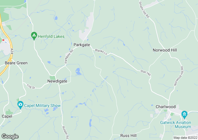 Map for Partridge Lane, Newdigate, RH5