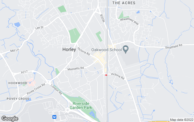 Map for White & Sons, Horley
