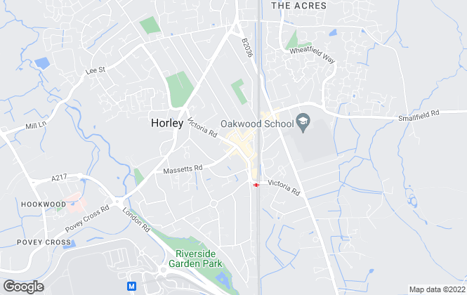 Map for Cubitt & West, Horley
