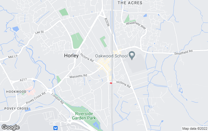 Map for Andrews Estate Agents, Horley