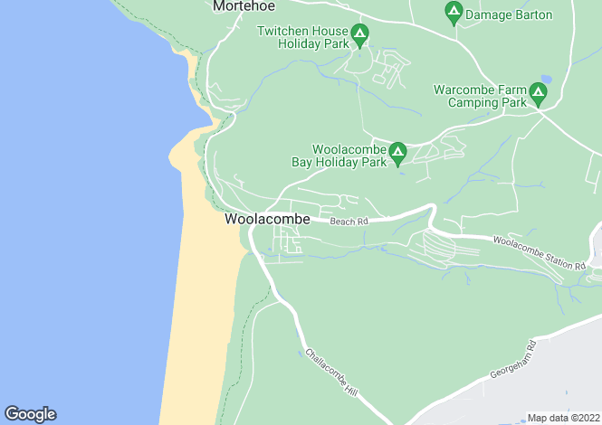 Map for Beach Road, Woolacombe