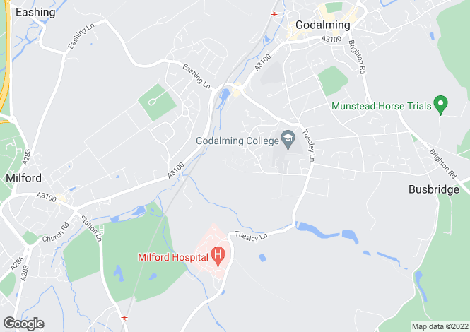 Map for Fox Dene, Godalming, Surrey, GU7