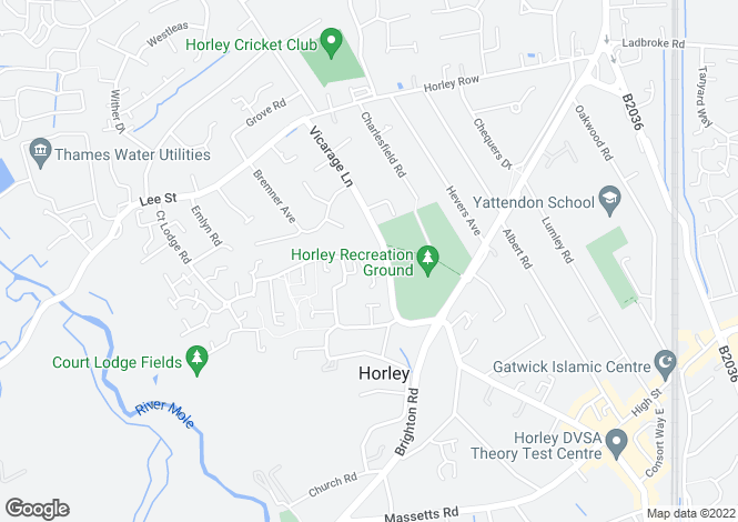 Map for Horley, RH6, Horley