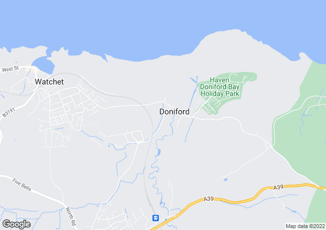 Map for Doniford, Watchet