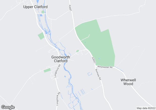 Map for Goodworth Clatford, Andover, Hampshire SP11