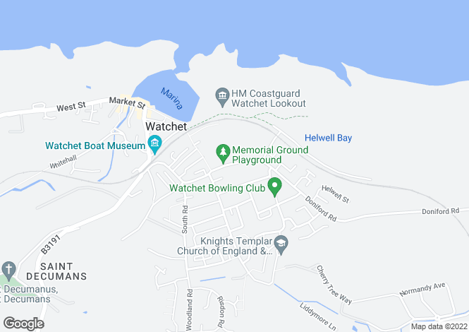 Map for Watchet