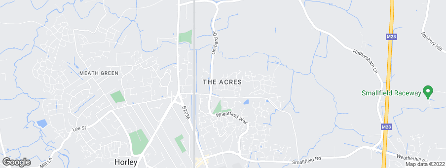 Map for The Acres - Horley development by Barratt Homes