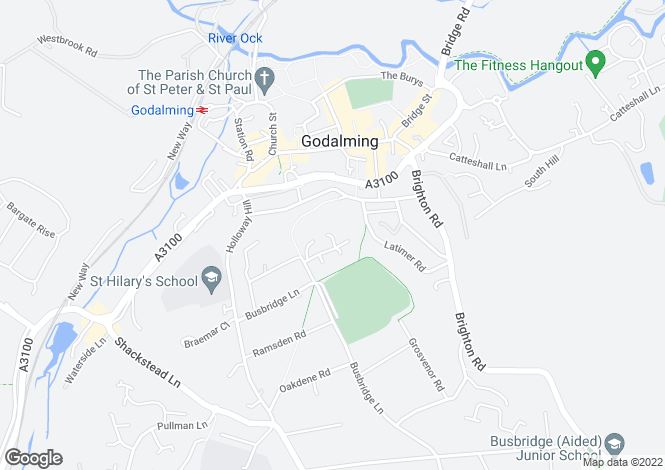Map for Summerhouse Road, Busbridge, Godalming, Surrey, GU7