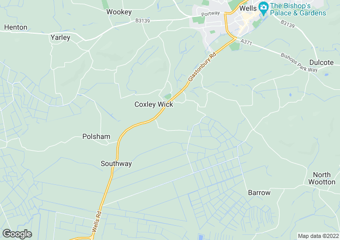 Map for Coxley, Near Wells