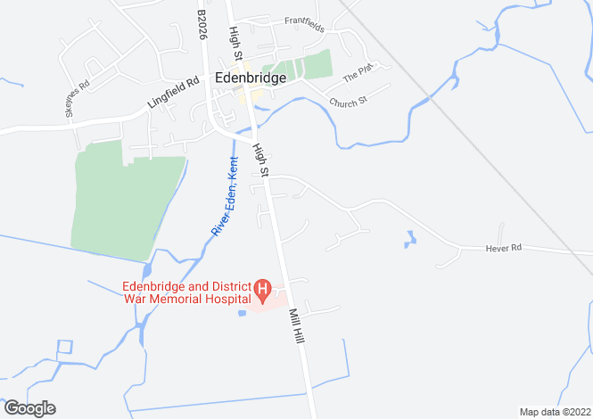 Map for Robyns Way, Edenbridge