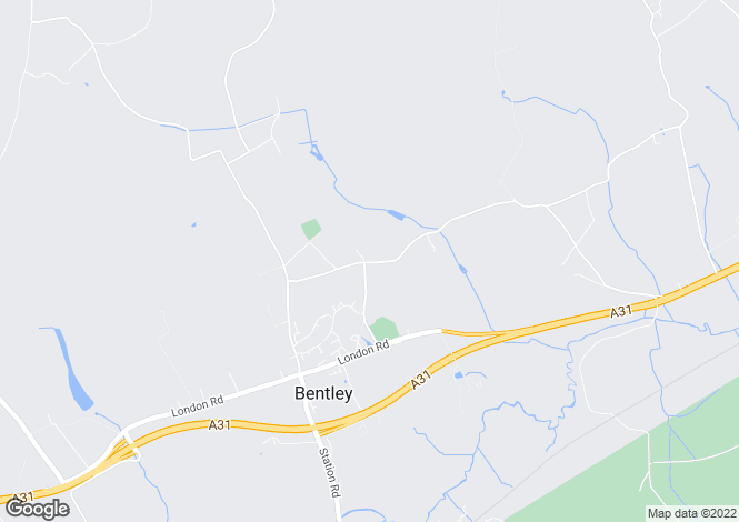 Map for Pamplins, Bentley, Farnham, Surrey, GU10 5JL