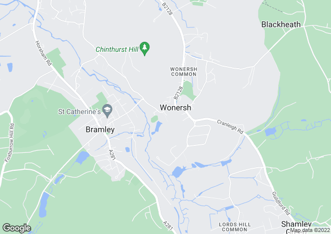 Map for The Street, Wonersh, Guildford, Surrey, GU5
