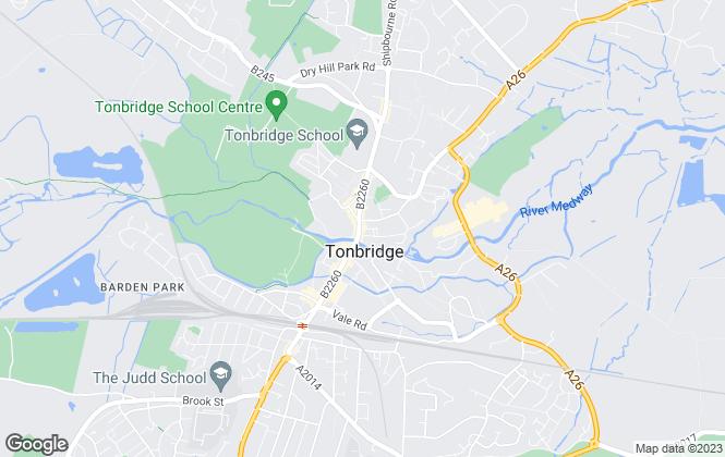 Map for Ashton Burkinshaw, Tonbridge