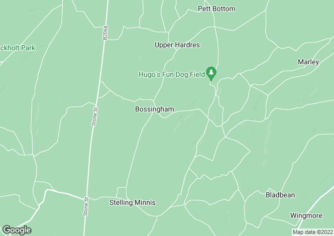 Map for Manns Hill, Bossingham, CANTERBURY