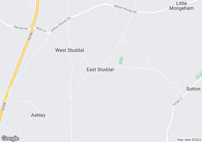 Map for East Studdal, Kent
