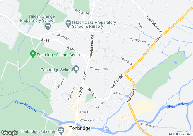 Map for Portman Park, TONBRIDGE, Kent
