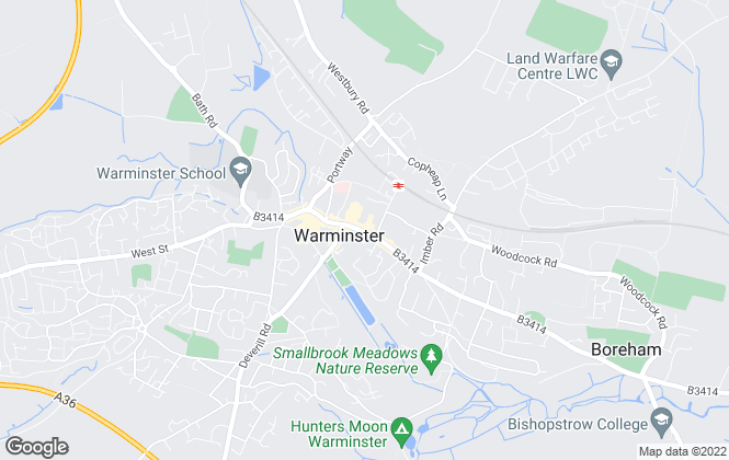 Map for move! estate agents, Warminster