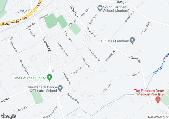 Map for Mavins Road, Farnham, GU9
