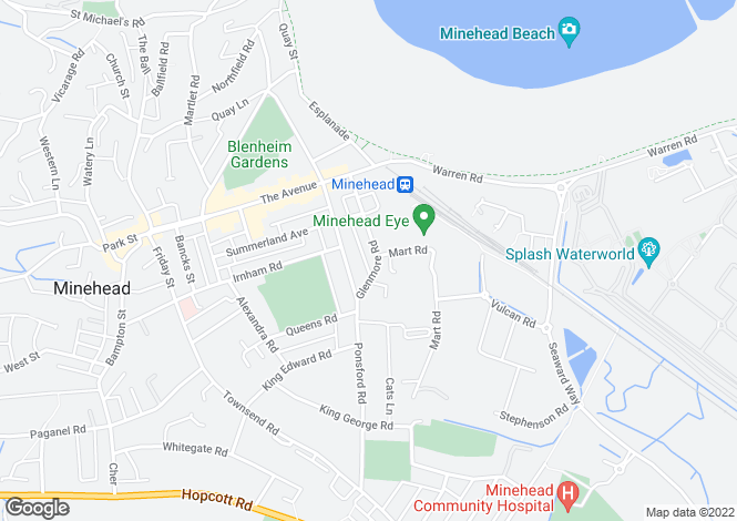Map for Glenmore Road, Minehead, Somerset