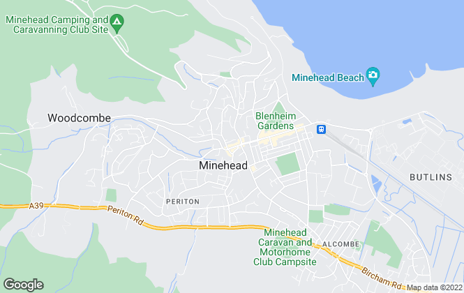 Map for Pointer Properties, Minehead