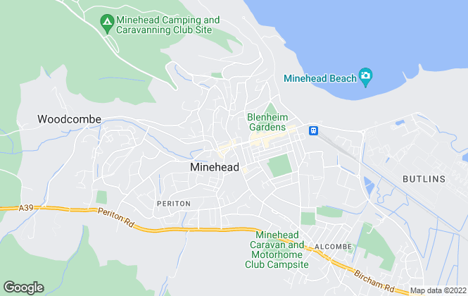 Map for Fine & Country, Minehead
