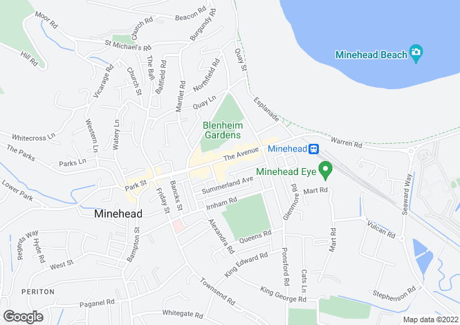 Map for Minehead