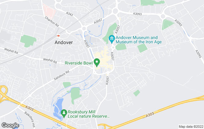 Map for Belvoir, Andover - Lettings