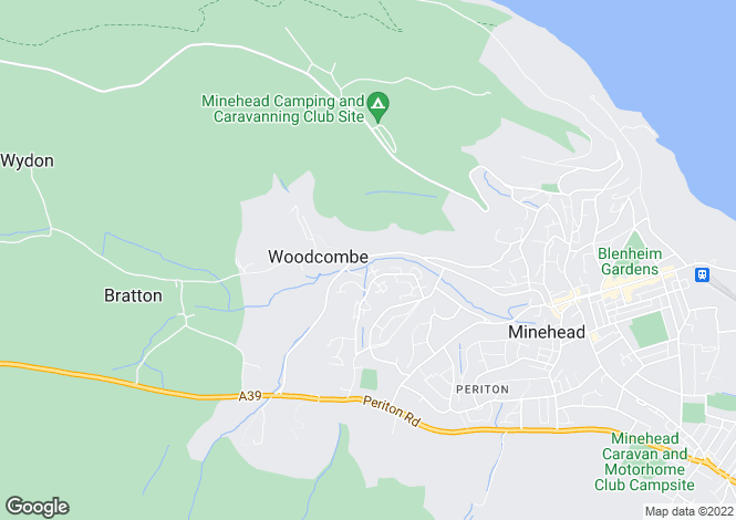 Map for Porlock Road, Woodcombe
