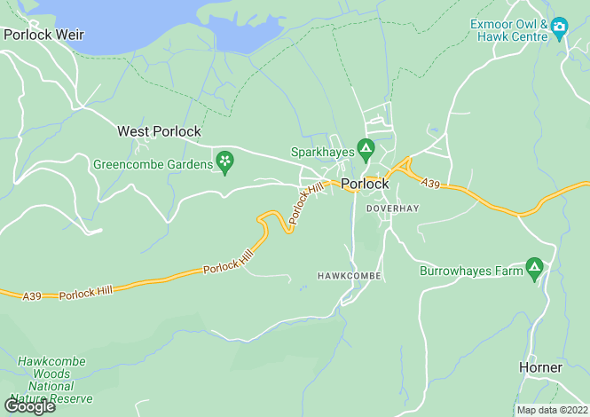 Map for Redway, Porlock