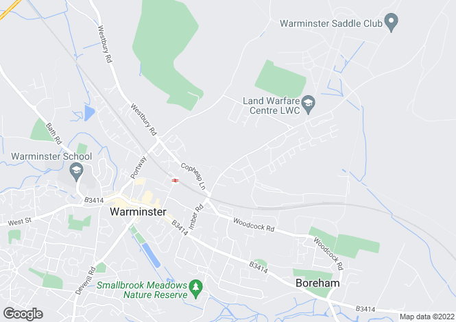 Map for The Uplands, WARMINSTER, BA12