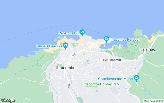 Map for Turners, Ilfracombe