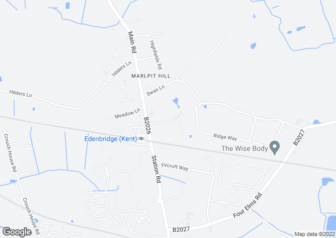 Map for Marlpit Hill, TN8, Edenbridge