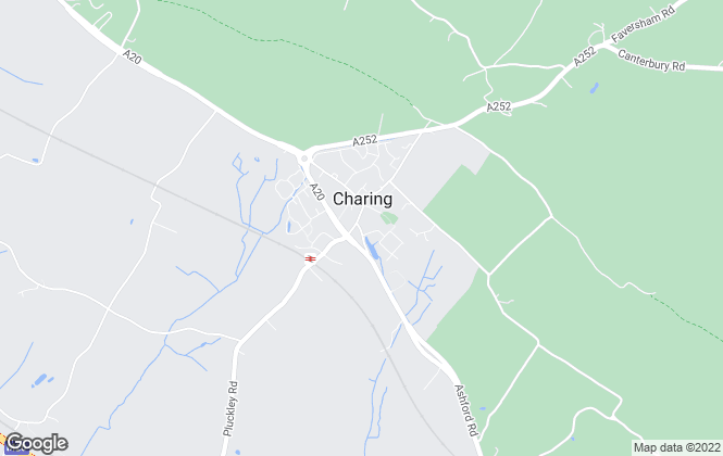 Map for Saddlers, Charing