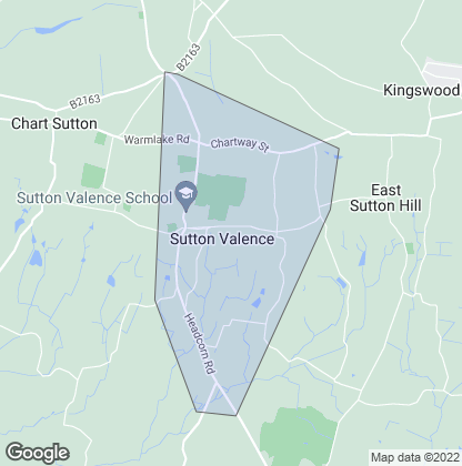 Map of property in Sutton Valence