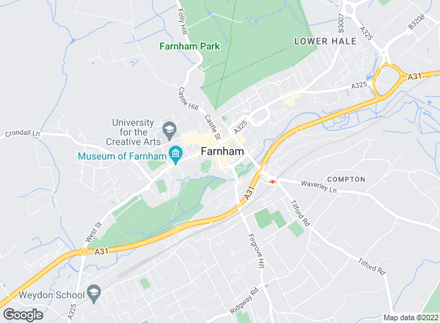 Map for Strutt & Parker, Farnham