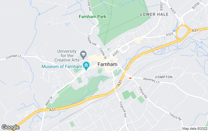 Map for Bourne Estate Agents, Farnham - Lettings