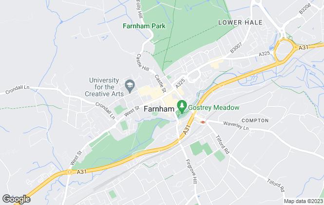 Map for Warren Powell-Richards, Farnham