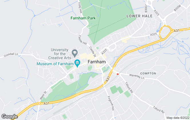 Map for Gascoigne-Pees Lettings, Farnham