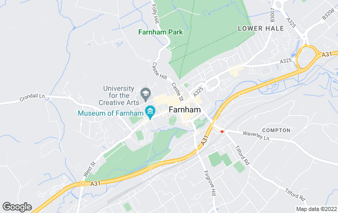 Map for Bridges Estate Agents, Farnham