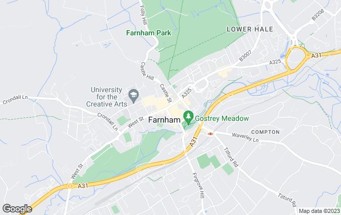 Map for Gascoigne-Pees Lettings, Farnham