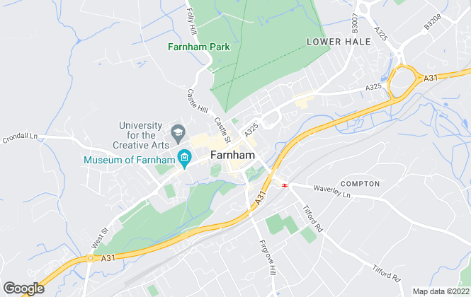 Map for Southern Properties, Farnham