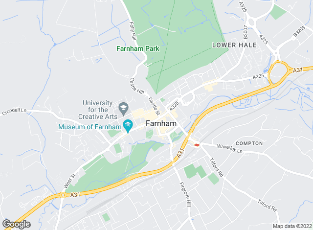 Map for Hamptons International Lettings, Farnham-Lettings