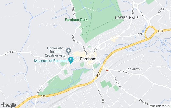 Map for Trueman Letting Company, Farnham