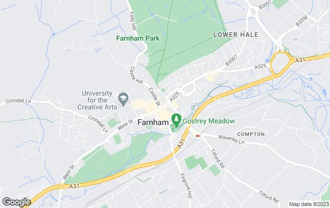 Map for Romans, Farnham Lettings