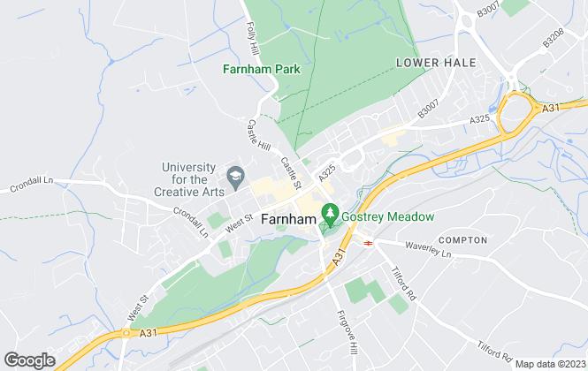 Map for Trueman & Grundy Estate Agents, Farnham